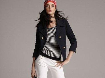 La Marinière - French Sailor's Shirt - with headscarf