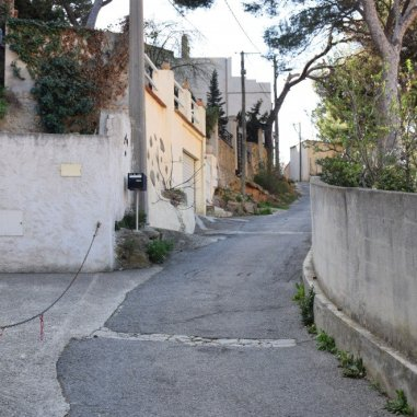 Provence's Blue Coast - street uphill