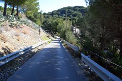 Provence's Blue Coast - road down Figuieres