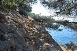 Provence's Blue Coast - slippery rocks