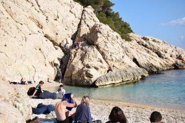 Provence's Côte Bleue - Calanque d'Erevine with boulder climb to trail
