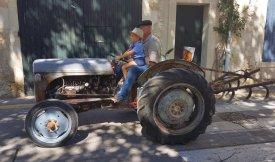 Tractor and grandson - Provences Cherry Festival - La Roque d'Anthéron