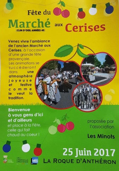 Flyer - Provences Cherry Festival - La Roque d'Anthéron
