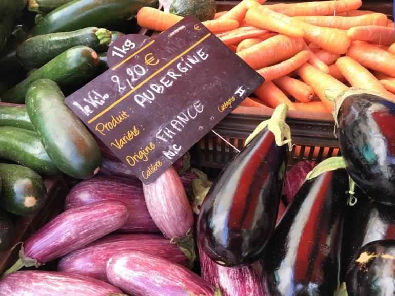 Silent Sunday - Aix en Provence - Farmers Market - Eggplant - Provence