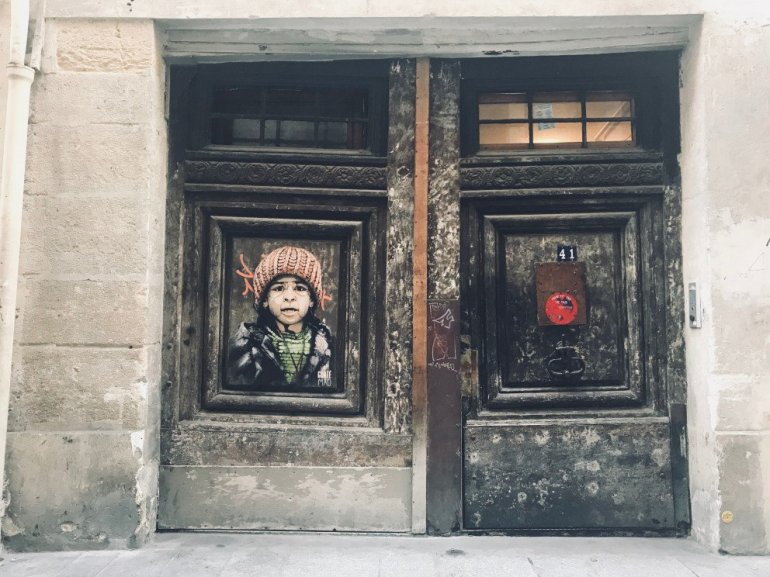 Parisian Street Art - Street alley portrait