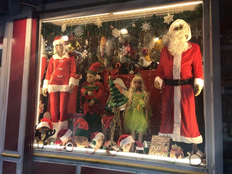 Parisian Holiday Season - Christmas window display