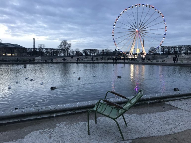 Parisian Holiday Season - A Chair - Jardin des Tuilleries