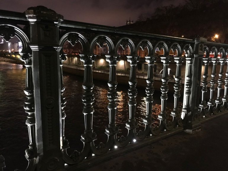 Parisian Holiday Season - bridge reflections
