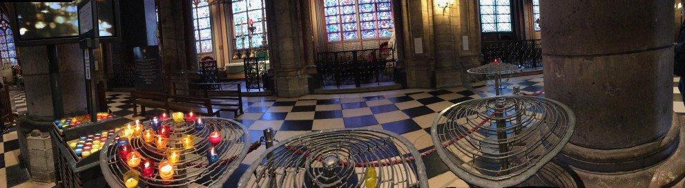 Honoring Notre-Dame-de-Paris - Candles and shadows