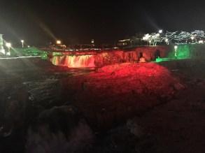 Lights at Falls park