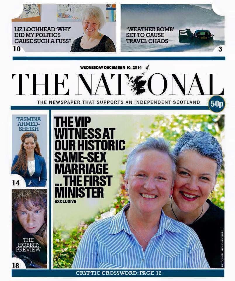 First gay couple to get married in Scotland