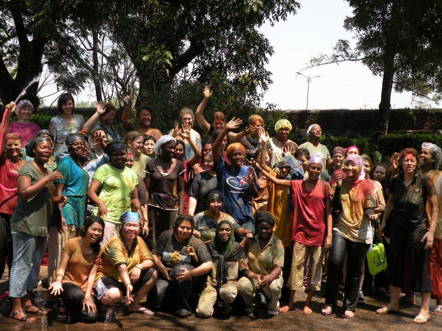 YWFF participants in India celebrate Holi.