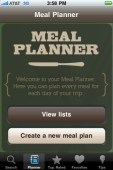 Coleman Canada iPhone Camping and Meal Planner App: Screen Shot
