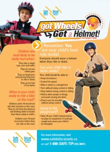 Safe Kids Canada: Got Wheels? Get a Helmet (side 2)