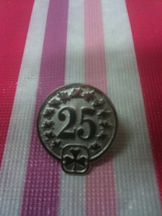 Sarah Lyons 25 Year Pin from Girl Guides