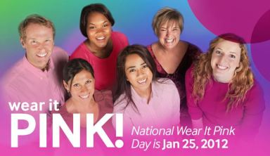 National Wear it pink day banner 2012