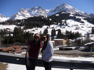 Switzerland: Sophie with Nicolette from Malta