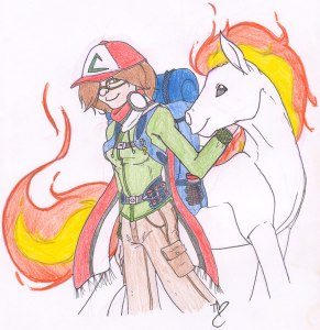 Pokemon Girl Guide Sketch by Terri