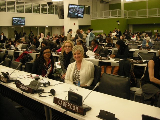 Saffina at CSW event in UN, New York