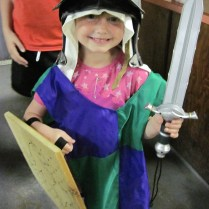 Spark Hannah as a knight at our Medieval Times unit camp megan Gilchrist