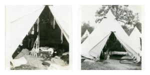Tent historic collage