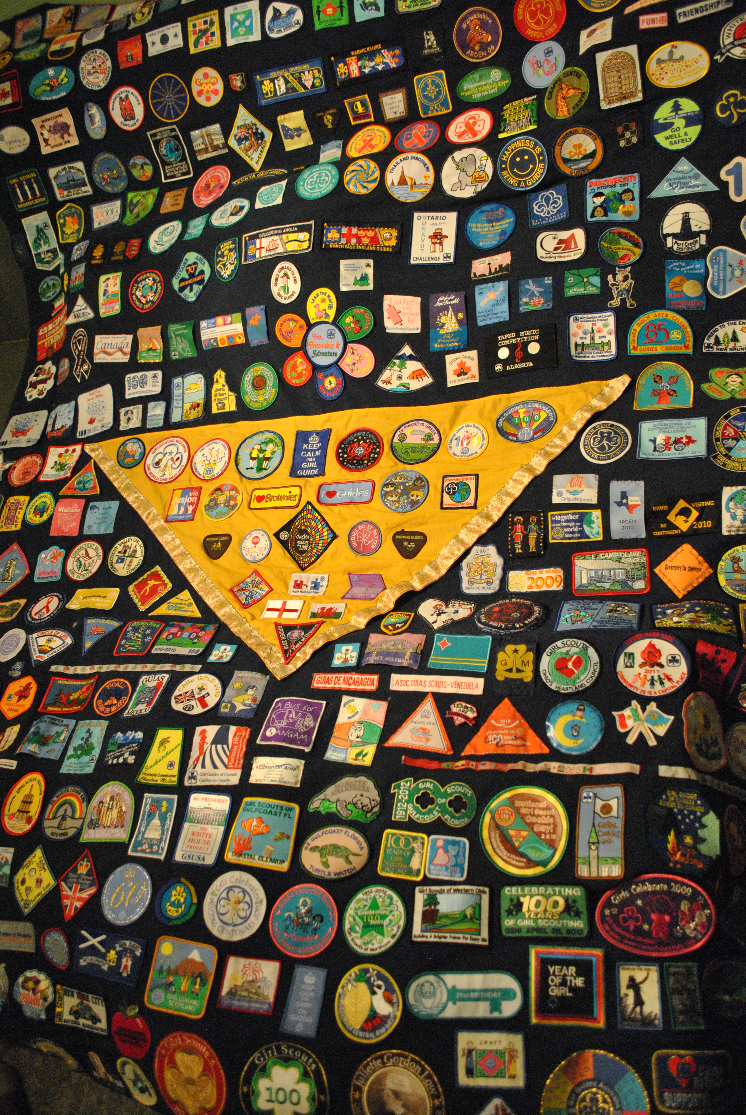 girl guide badge placement canada