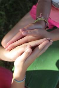 Girls hands