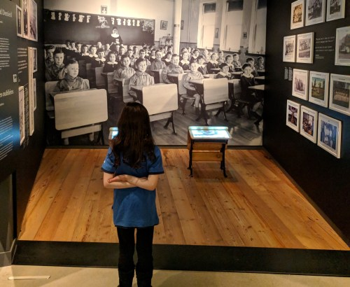 girl guide at museum of human rights