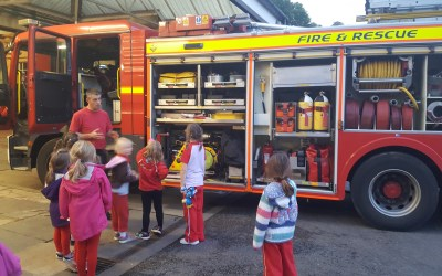 Rainbows Visit Fire Station