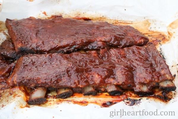 Easy Fall-off-the-Bone Rib recipe for pork ribs - girlheartfood.com