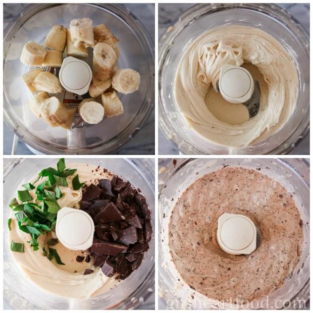 Mint Chocolate Nice Cream (vegan, gluten free, dairy free) - girlheartfood.com