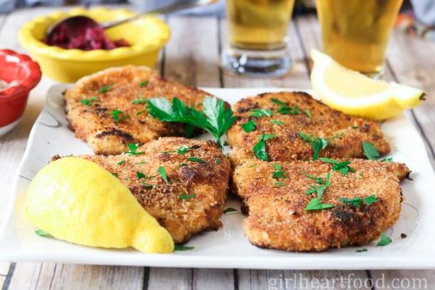 Pork Schnitzel - girlheartfood.com