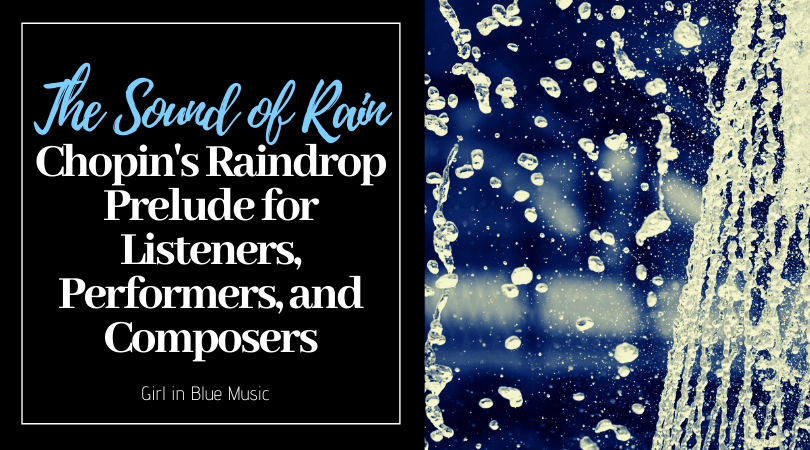 Title card: The Sound Rain: Chopin's Raindrop Prelude for Listeners, Performers, and Composers
