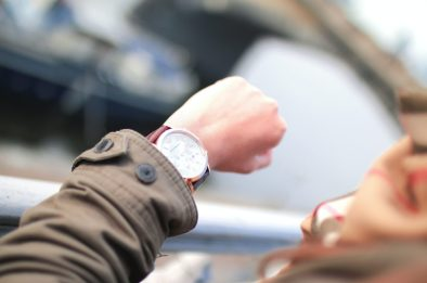Image of an arm holding up a watch