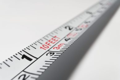 Image of a white measuring tape