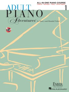 Book Cover: Adult Piano Adventures All-in-One Piano Course Book 1