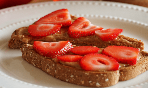 Almond Butter Toast With Honey & Strawberries