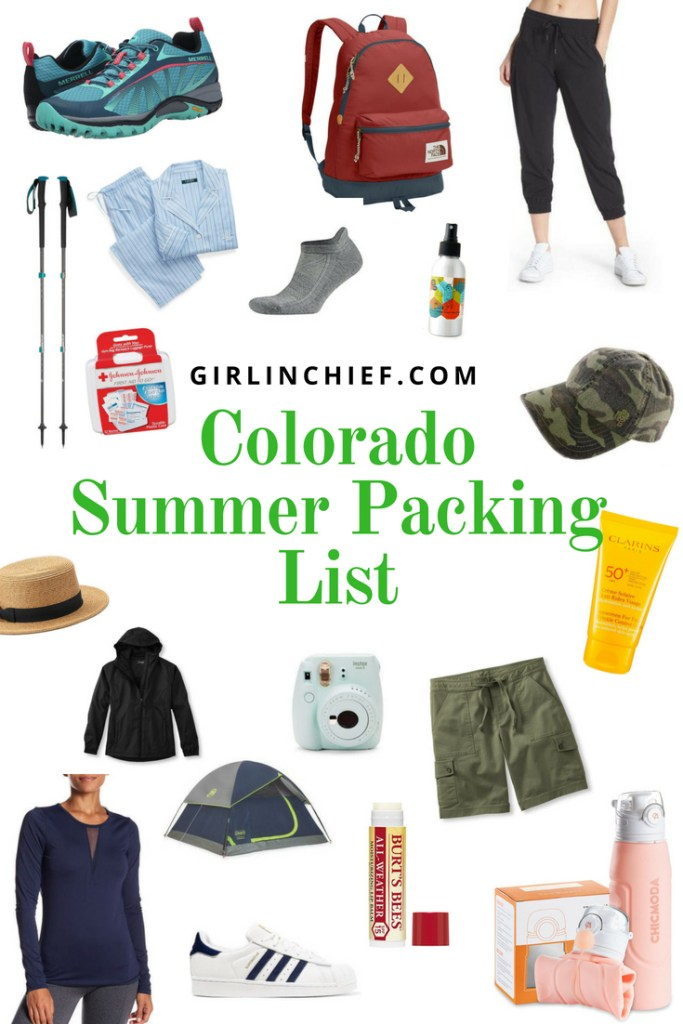 Colorado Summer Packing List #colorado #summer #travel #packinglist