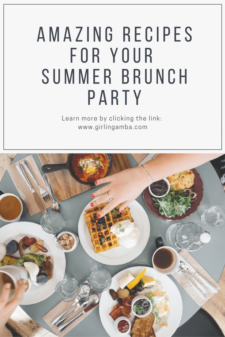 Looking to throw a summer brunch party? You need to check out these recipes! Pin for later!