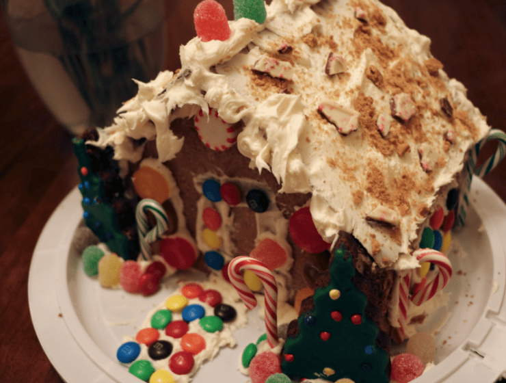 Homemade Gingerbread House
