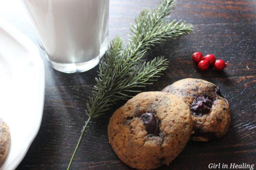 Gluten free, grain free, sugar free cherry amaretto cookies