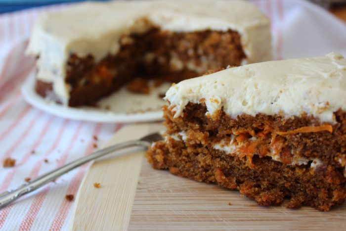 Slice of Grain Free Carrot Cake