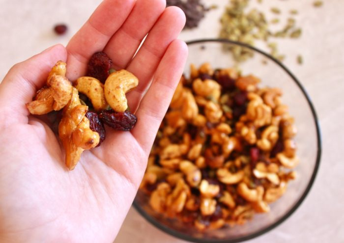 Maple Roasted Cashew Trail Mix (Gluten Free, Dairy Free, Paleo)