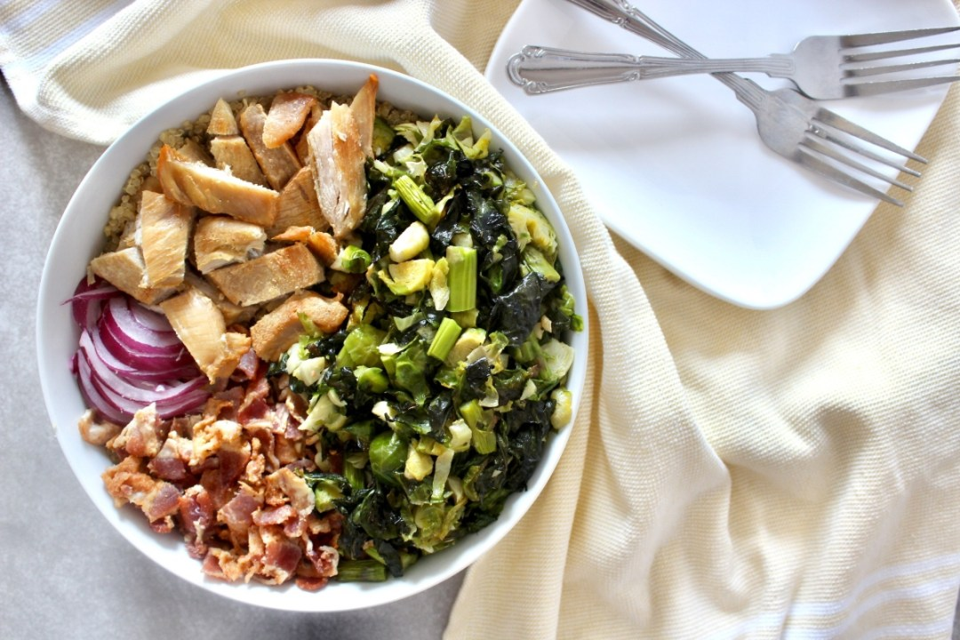 Loaded Brussel Sprout Salad (gluten free, dairy free)