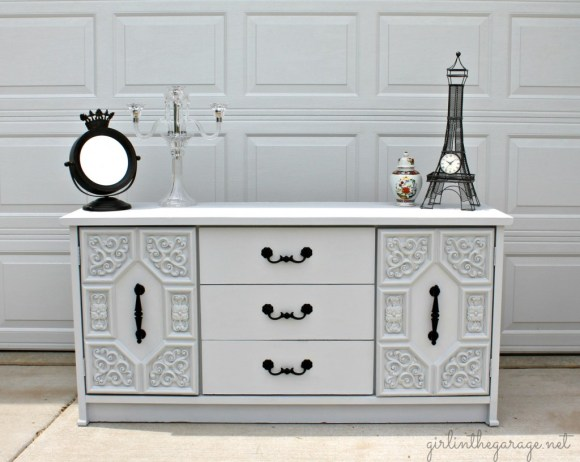 Gray Dresser Makeover by Girl in the Garage