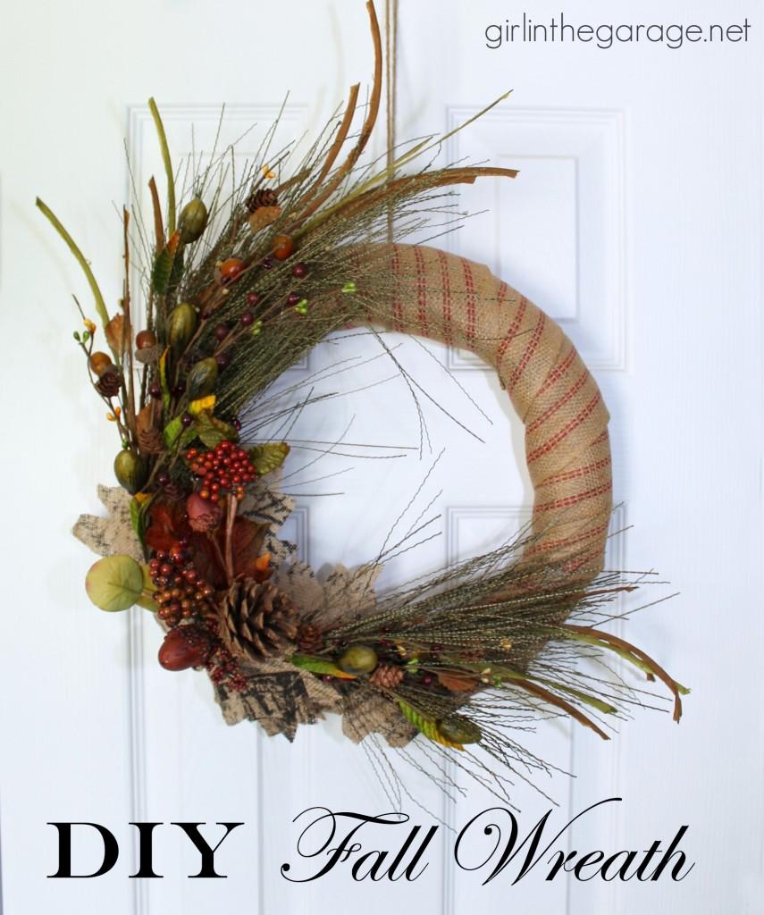 DIY Fall Wreath Girl In The Garage