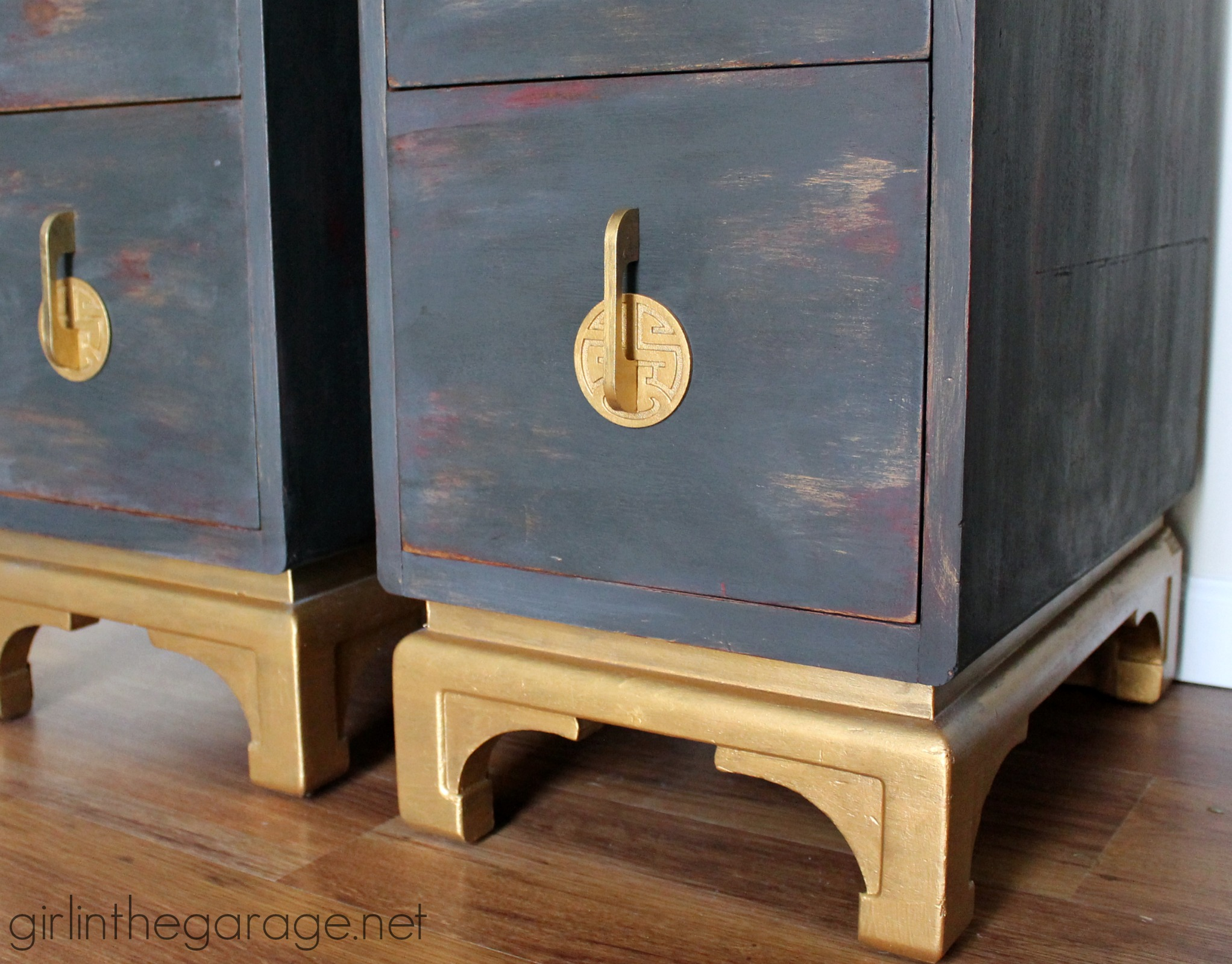 Oriental Nightstands Themed Makeover Girl In The Garage