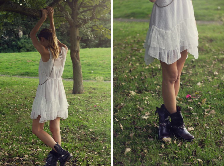 Festival outfit - dress and boots