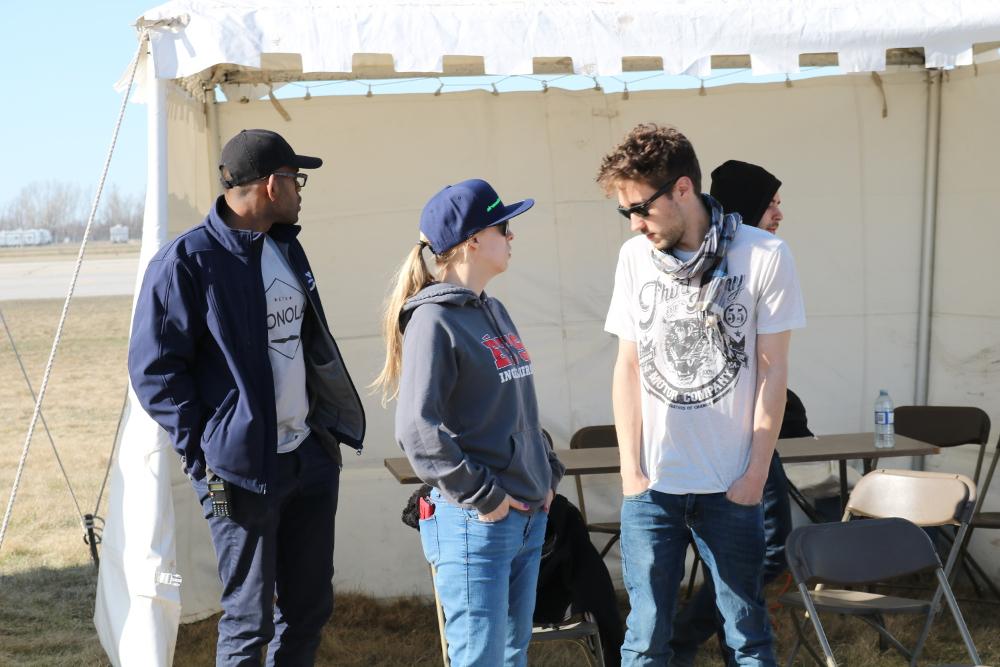 Marie-Philippe Gill avec d'autres membres de Dronolab