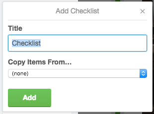 Add a checklist trello